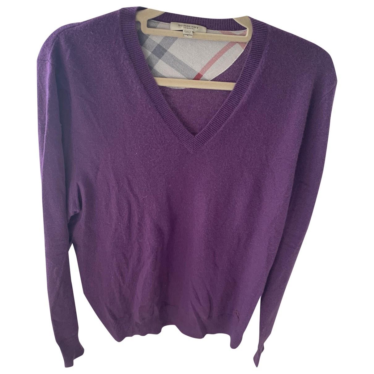 Burberry \N Purple Cashmere Knitwear & Sweatshirts for Men L International