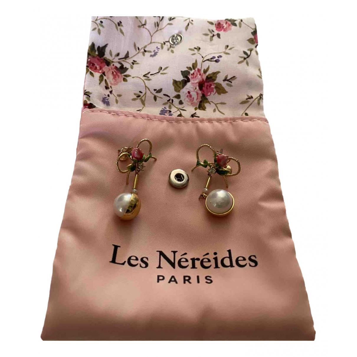 Les Néréides \N Yellow Metal Earrings for Women \N