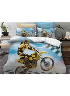 The Fast And The Furious Printed 3-Piece 3D Phyester Bedding Sets/Duvet Covers