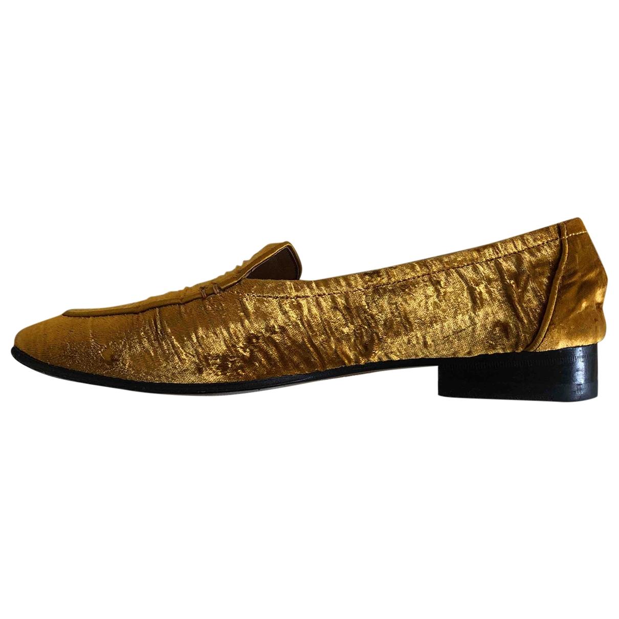 The Row \N Gold Velvet Flats for Women 39.5 EU