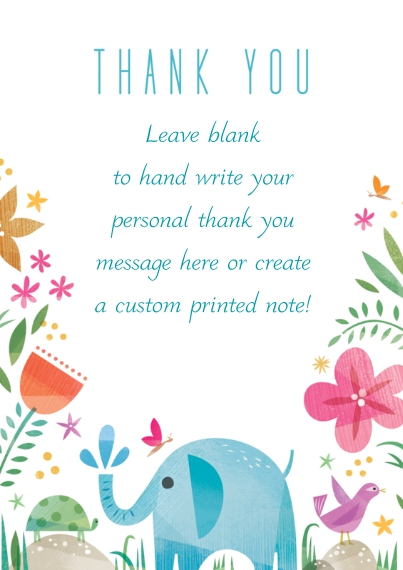 Kids Thank You Cards Flat Matte Photo Paper Cards with Envelopes, 5x7, Card & Stationery -Happy Thank You