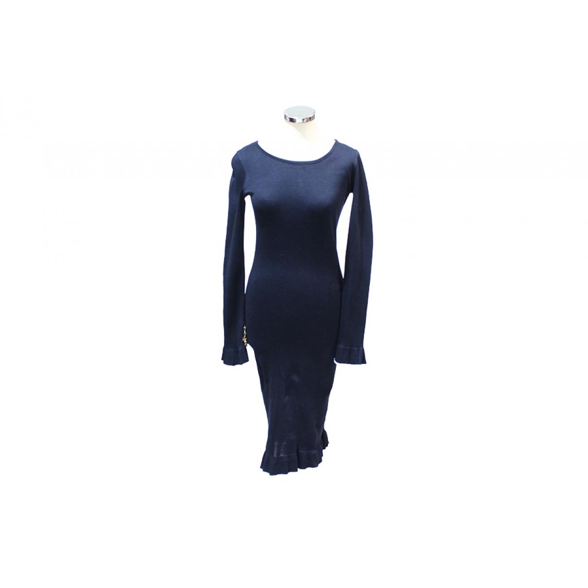 Chanel \N Navy Wool dress for Women 38 FR