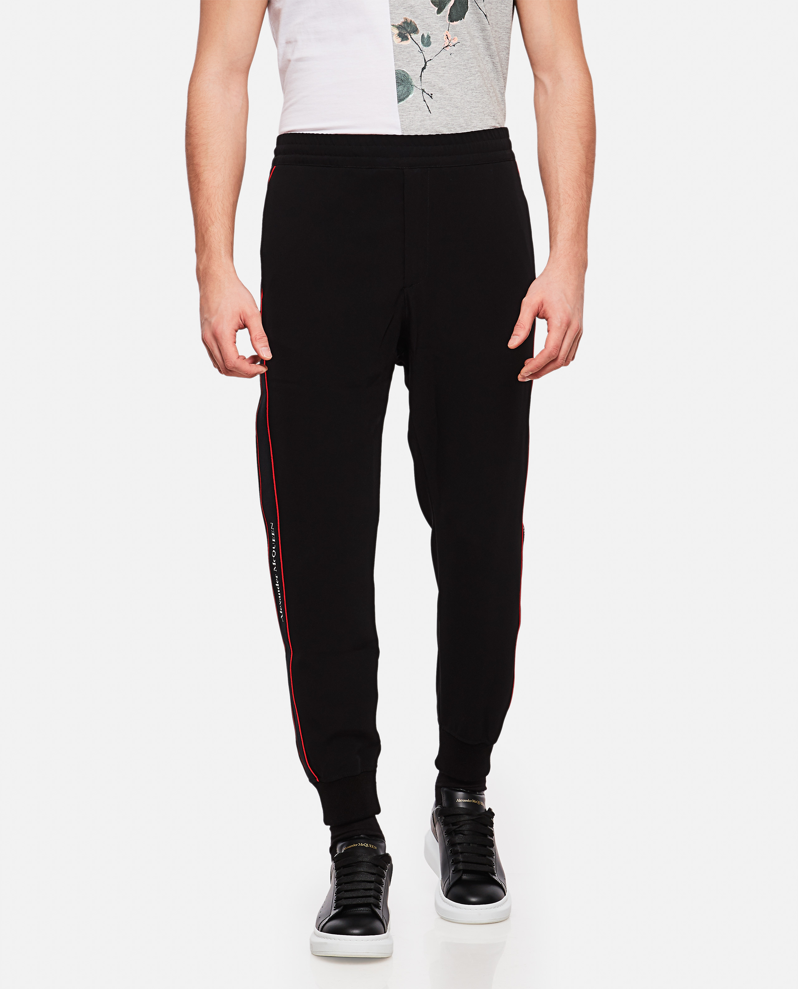 Sports trousers with side tape