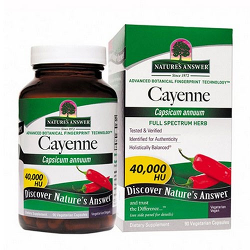 Cayenne Pepper Fruit 90 Caps by Nature's Answer