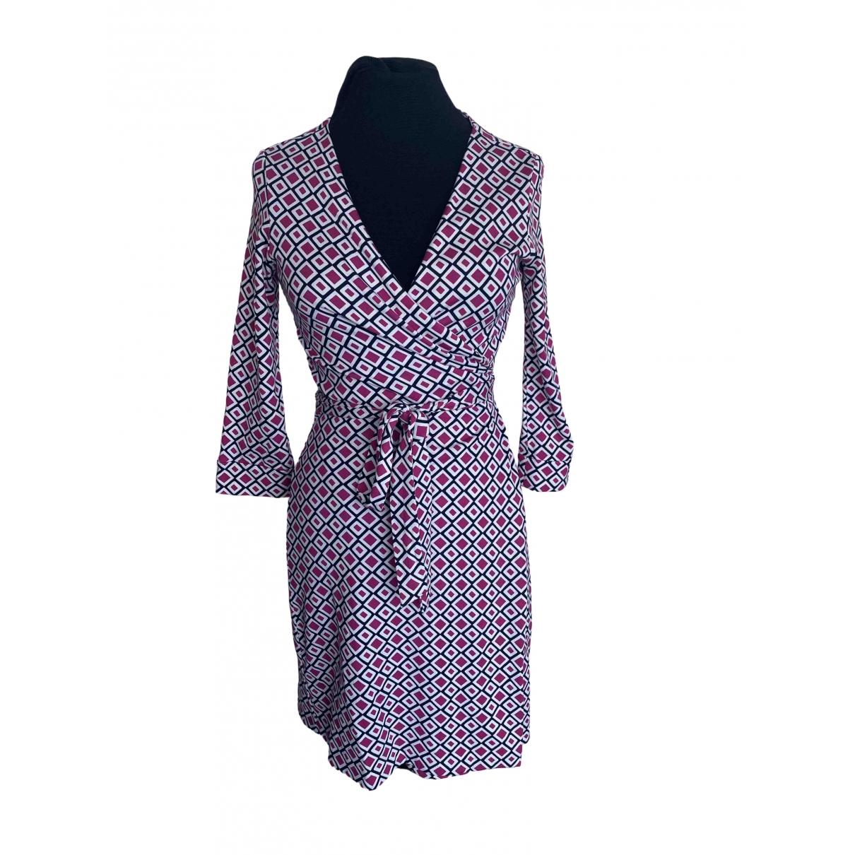 Diane Von Furstenberg \N Pink Cotton dress for Women 6 UK