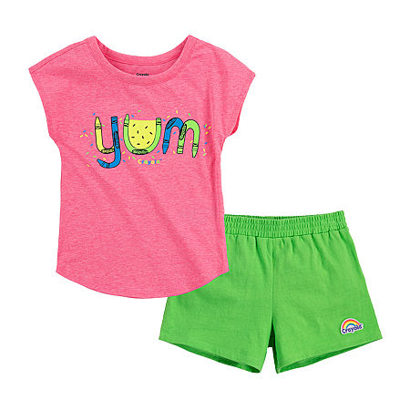 Crayola Baby Girls 2-pc. Short Set, 18 Months , Green