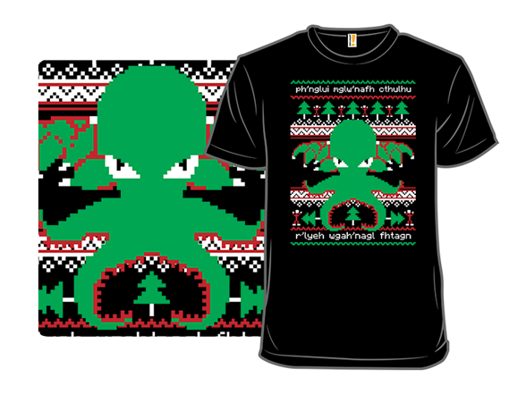 Cthulhu Cultist Christmas T Shirt