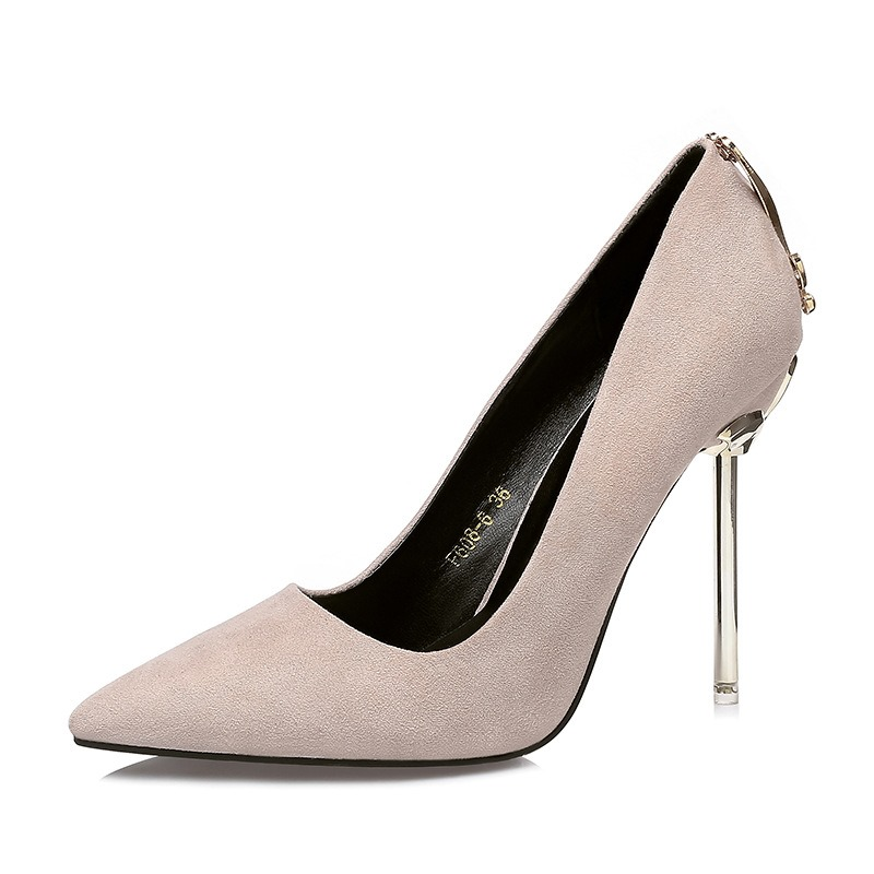 Ericdress Sequin Plain Pointed Toe Stiletto Heel Women's Pumps