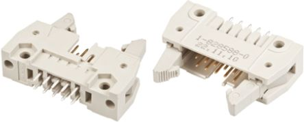 TE Connectivity , AMP-LATCH, 40 Way, 2 Row, Straight PCB Header