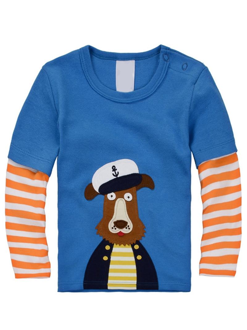 Ericdress Animal Print Stripe Boys And Girls Leisure T-Shirt