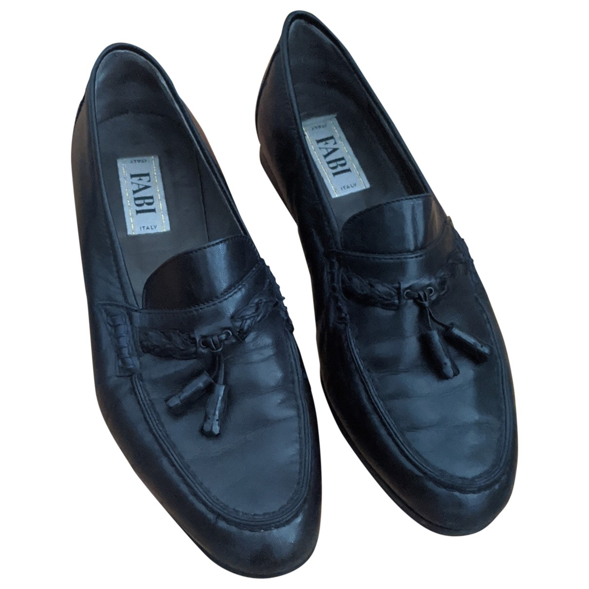 Non Signé / Unsigned \N Blue Leather Flats for Men 44.5 EU