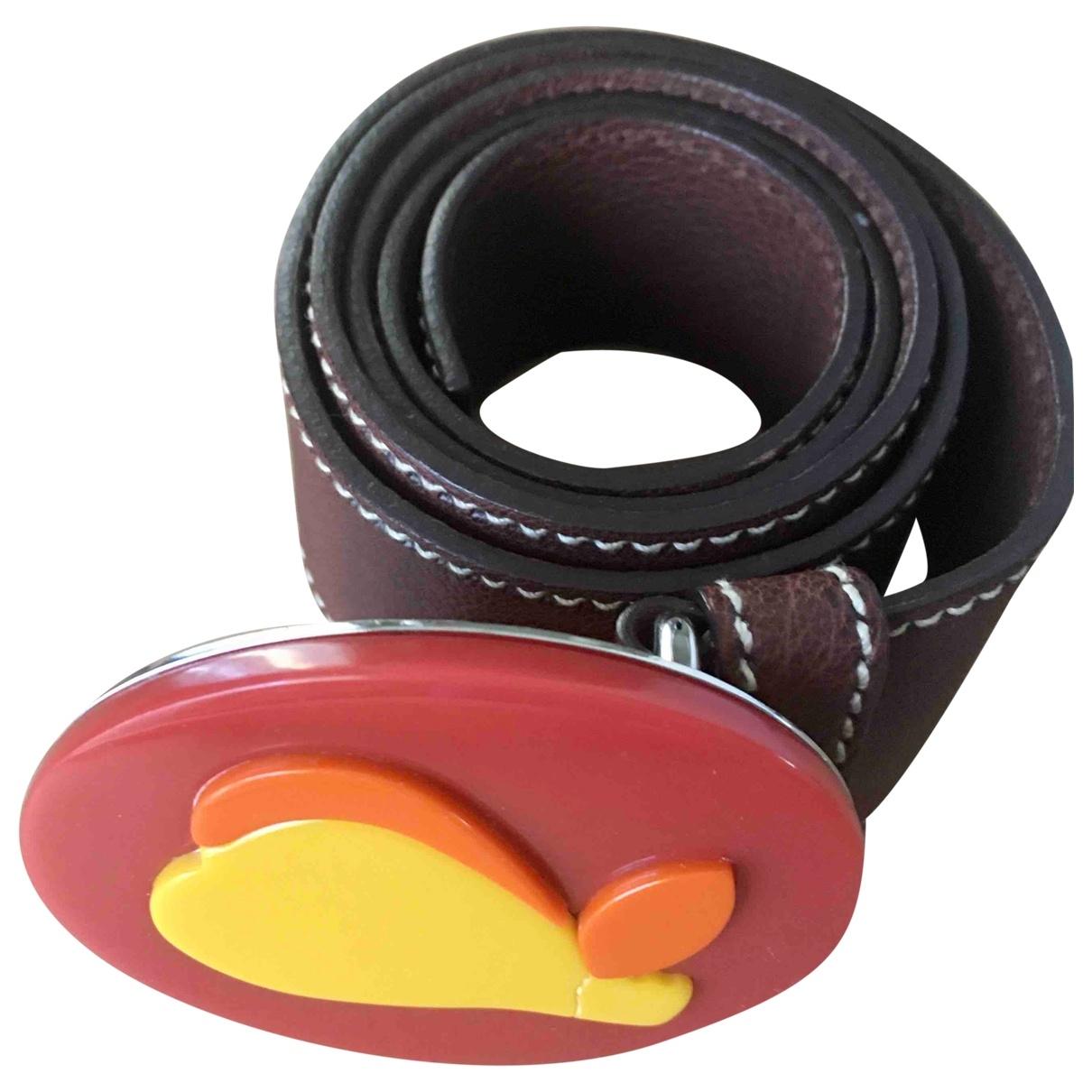 Miu Miu \N Brown Leather belt for Women 85 cm
