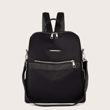 Front Zipper Decor Backpack
