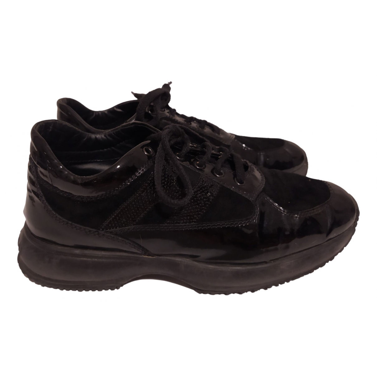 Hogan \N Black Patent leather Trainers for Women 35 EU