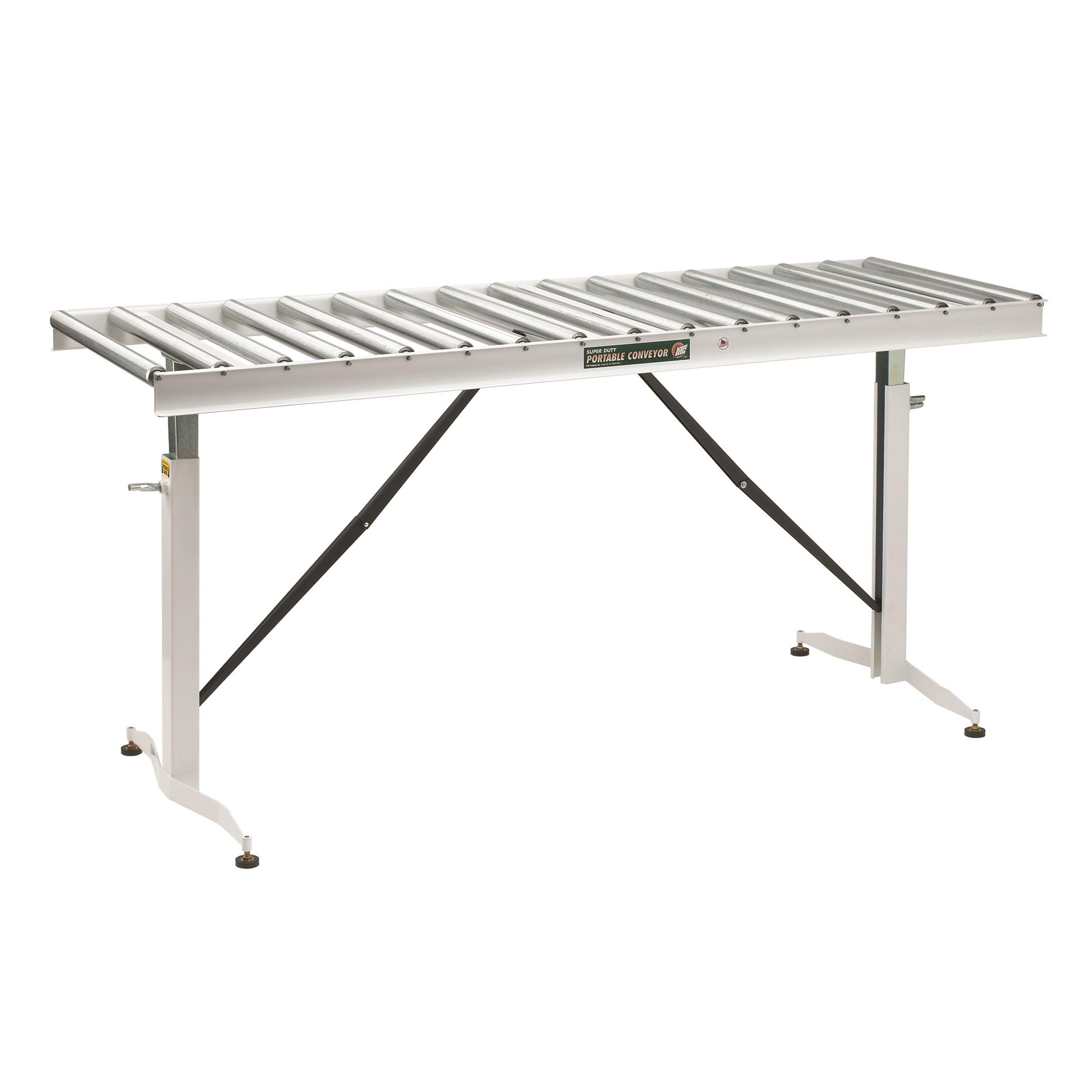 Adjustable Folding Roller Conveyor Table, 66