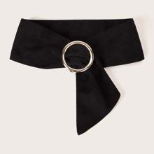 O-ring Buckle Suede Belt
