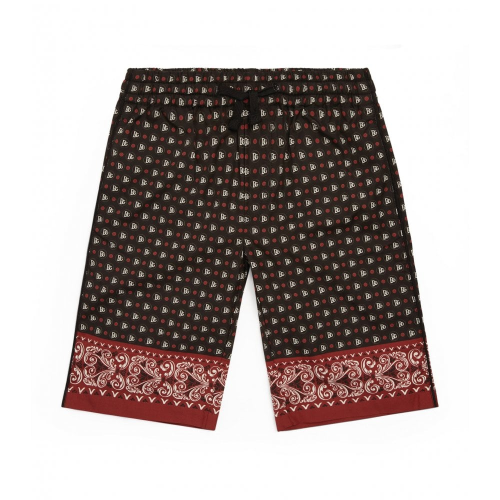 Dolce & Gabbana D&G Logo Swim Shorts Colour: BLACK, Size: 24/3