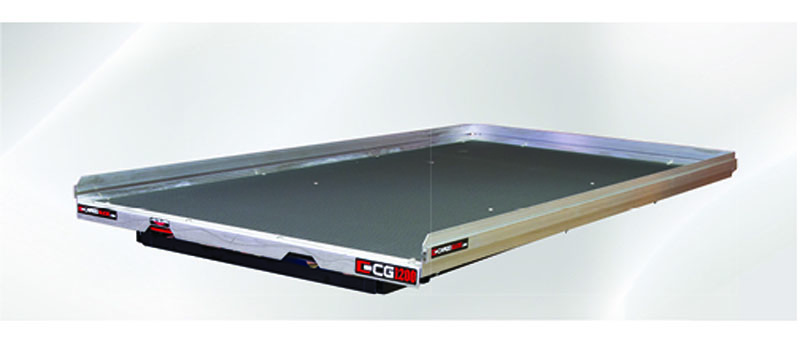 Slide Out Truck Bed Tray 1200 lb Capacity 75 Percent Extension 6 Bearings Alum Tie-Down Rails Plywood Deck Fits Tahoe