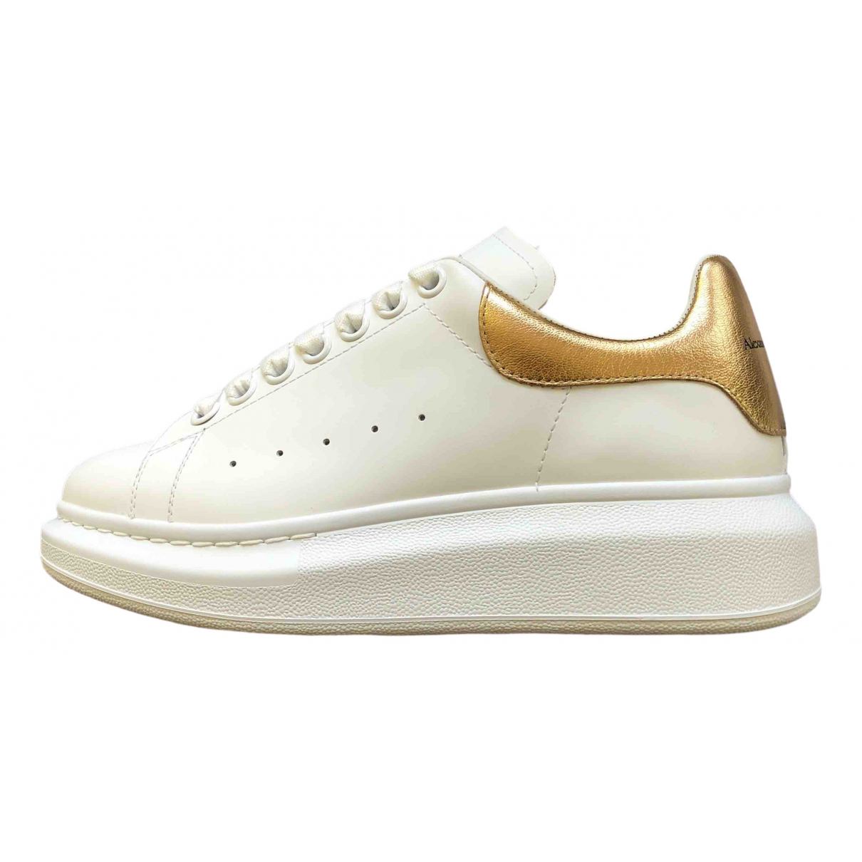 Alexander Mcqueen Oversize White Leather Trainers for Women 37.5 EU