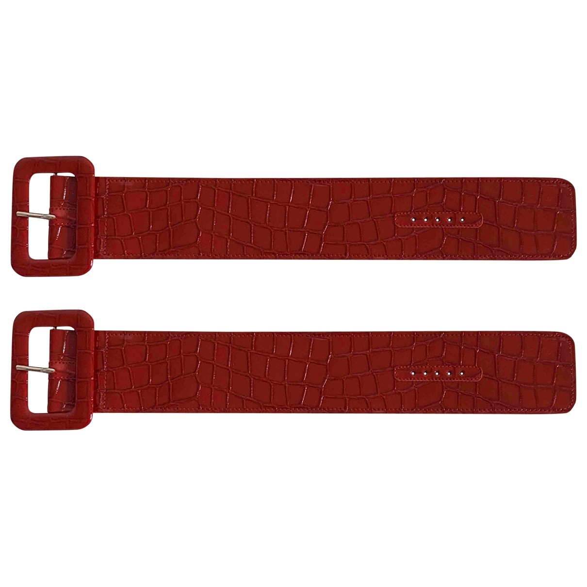 Attico \N Red Leather bracelet for Women XXS International