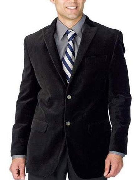 Mens 2 Buttons Single Breasted Velvet Midnight Suit