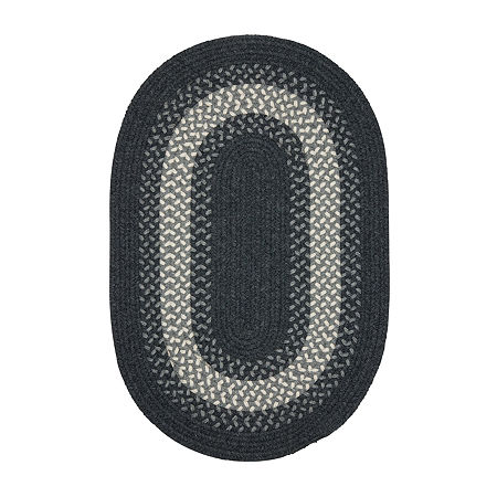 Colonial Mills American Spirit Braided Oval Reversible Indoor Rugs, One Size , Blue