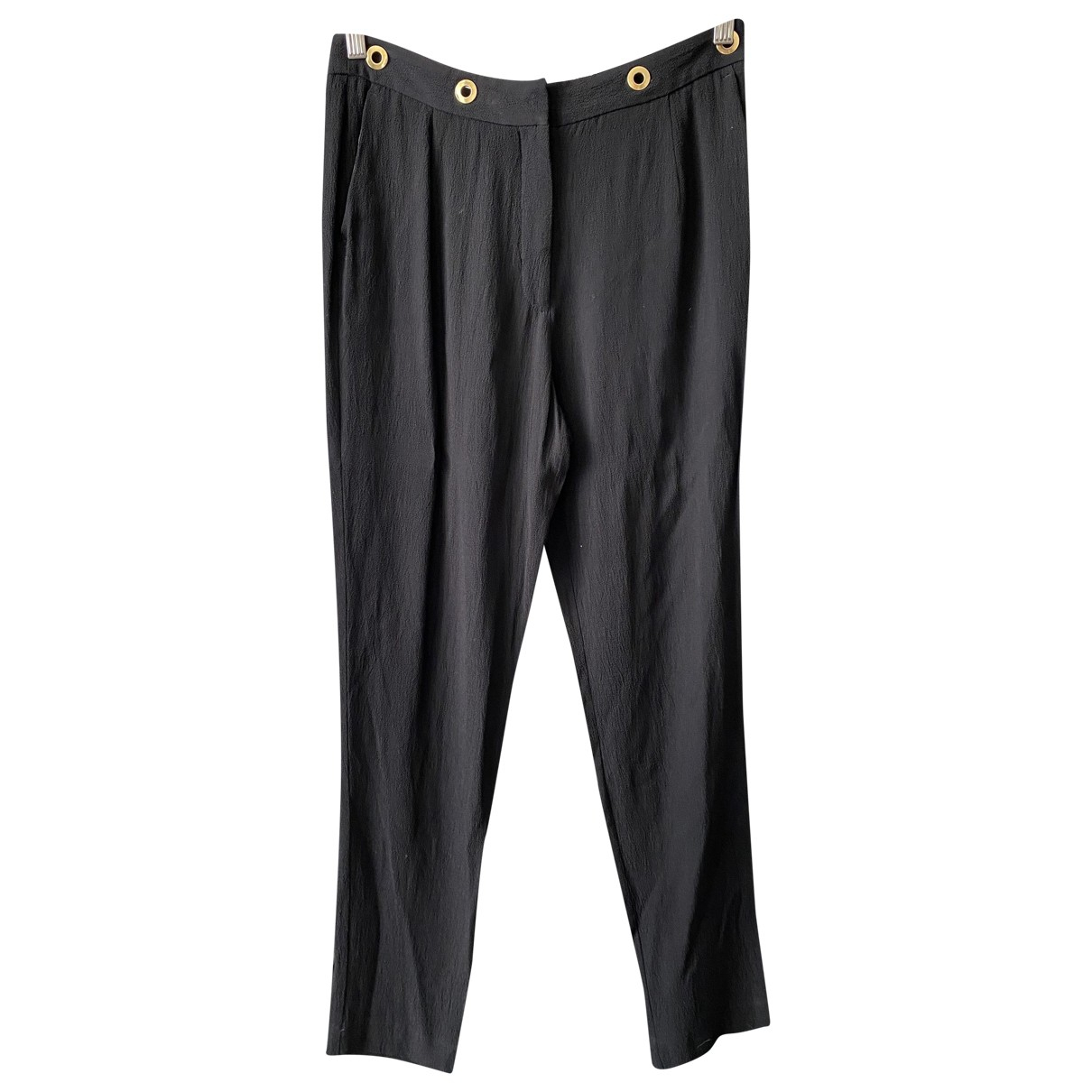 Sandro \N Black Trousers for Women 40 FR