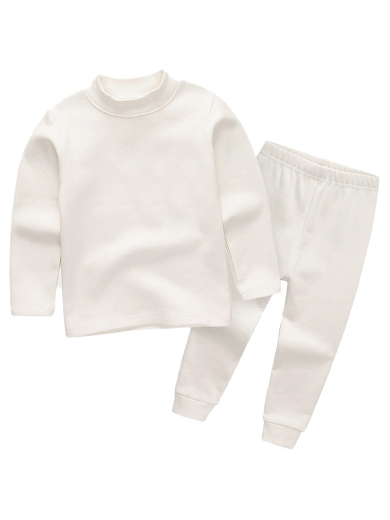 Ericdress Plain Long Sleeve T-Shirt & Trousers Baby Girl's Outfit