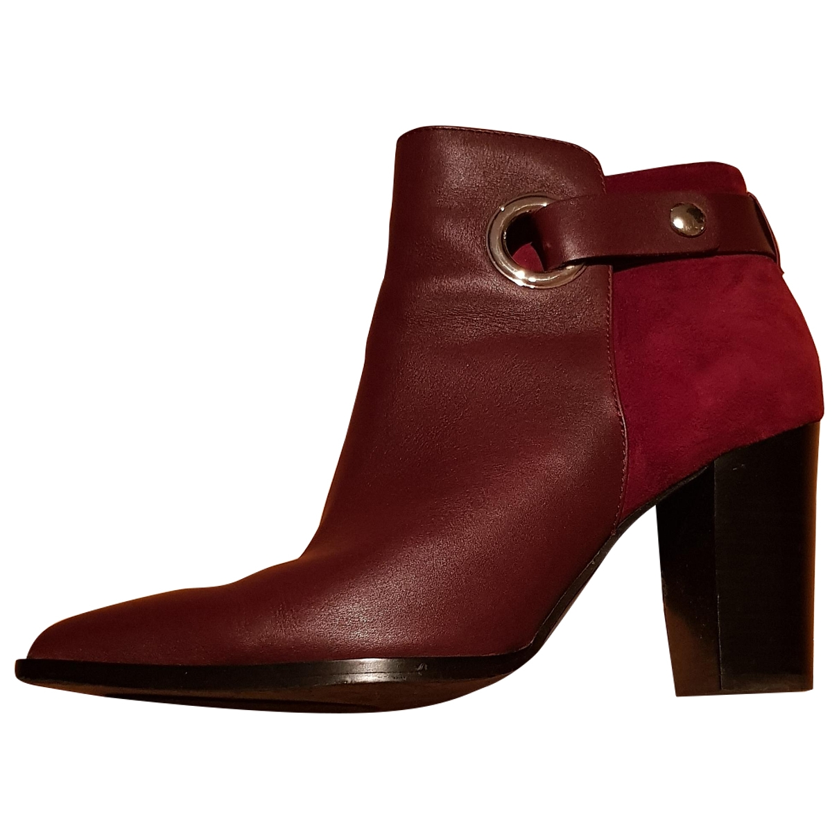 & Stories \N Burgundy Leather Ankle boots for Women 39 EU