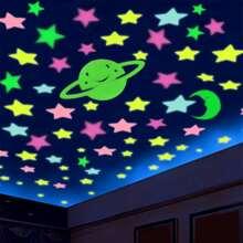 Star Print Luminous Wall Sticker