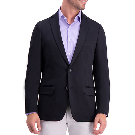 Haggar Mens Stretch Slim Fit Sport Coat, 40 Long, Black