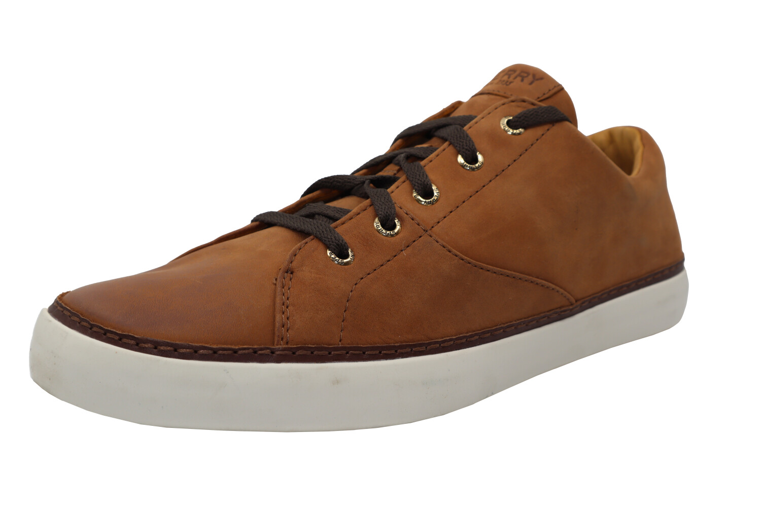 Sperry Men's Gold Cup Haven Caramel Ankle-High Leather Sneaker - 11.5M