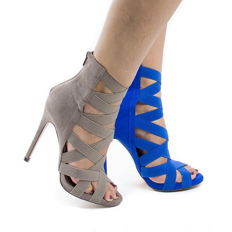 Ericdress Stiletto Heel Open Toe Heel Covering Sexy Sandals