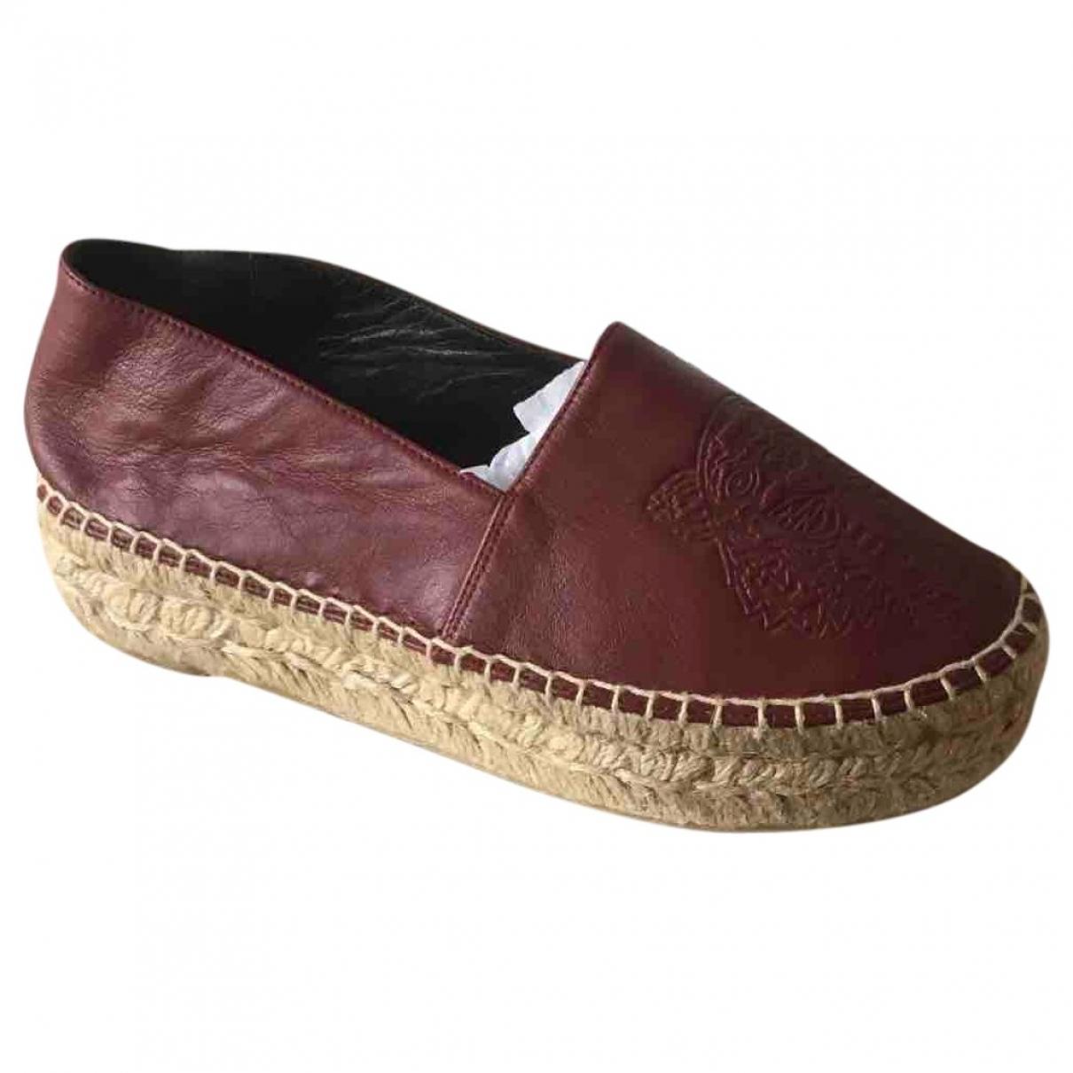 Kenzo \N Burgundy Leather Espadrilles for Women 35 EU