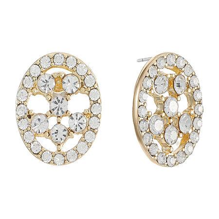 Gloria Vanderbilt 14.6mm Stud Earrings, One Size , White