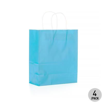 Gift Kraft Paper Bag - Medium 4Pcs Blue LIVINGbasics™