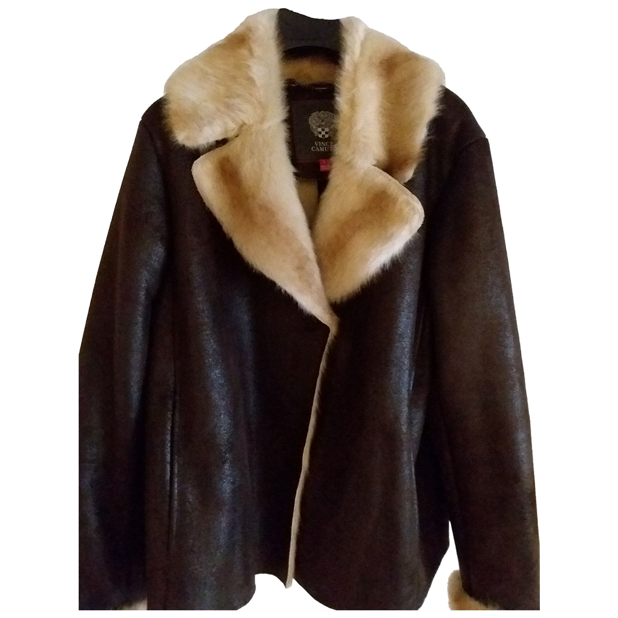 Vince Camuto \N Brown Faux fur Leather jacket for Women L International
