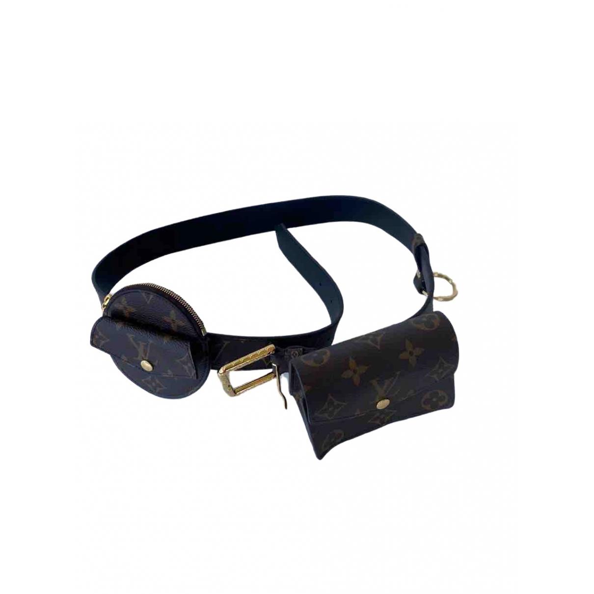 Louis Vuitton Daily multi pocket Brown Cloth belt for Women 95 cm