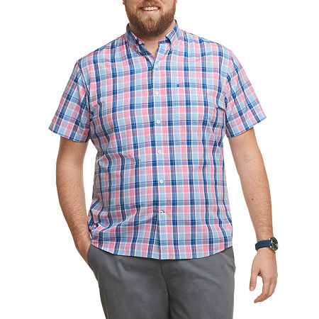 IZOD Big and Tall Mens Short Sleeve Button-Down Shirt, 3x-large , Pink