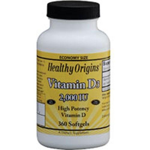 Vitamin D3 360 Soft Gels by Healthy Origins