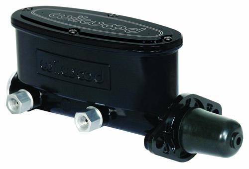Wilwood 260-8556-BK Aluminum Tandem Master Cylinder Black E-Coat 1-1/8