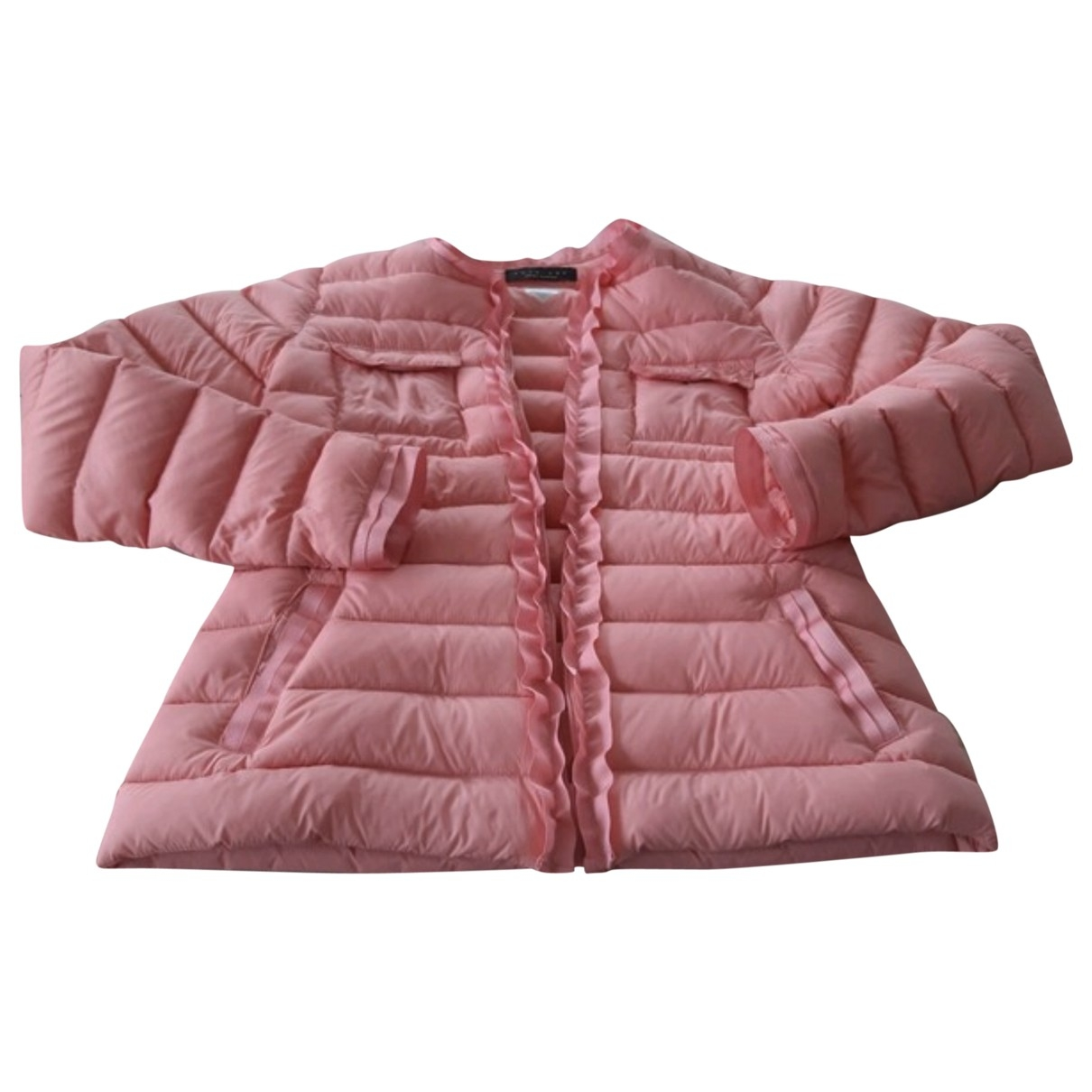 Twin Set \N Pink Leather jacket for Women 36 FR