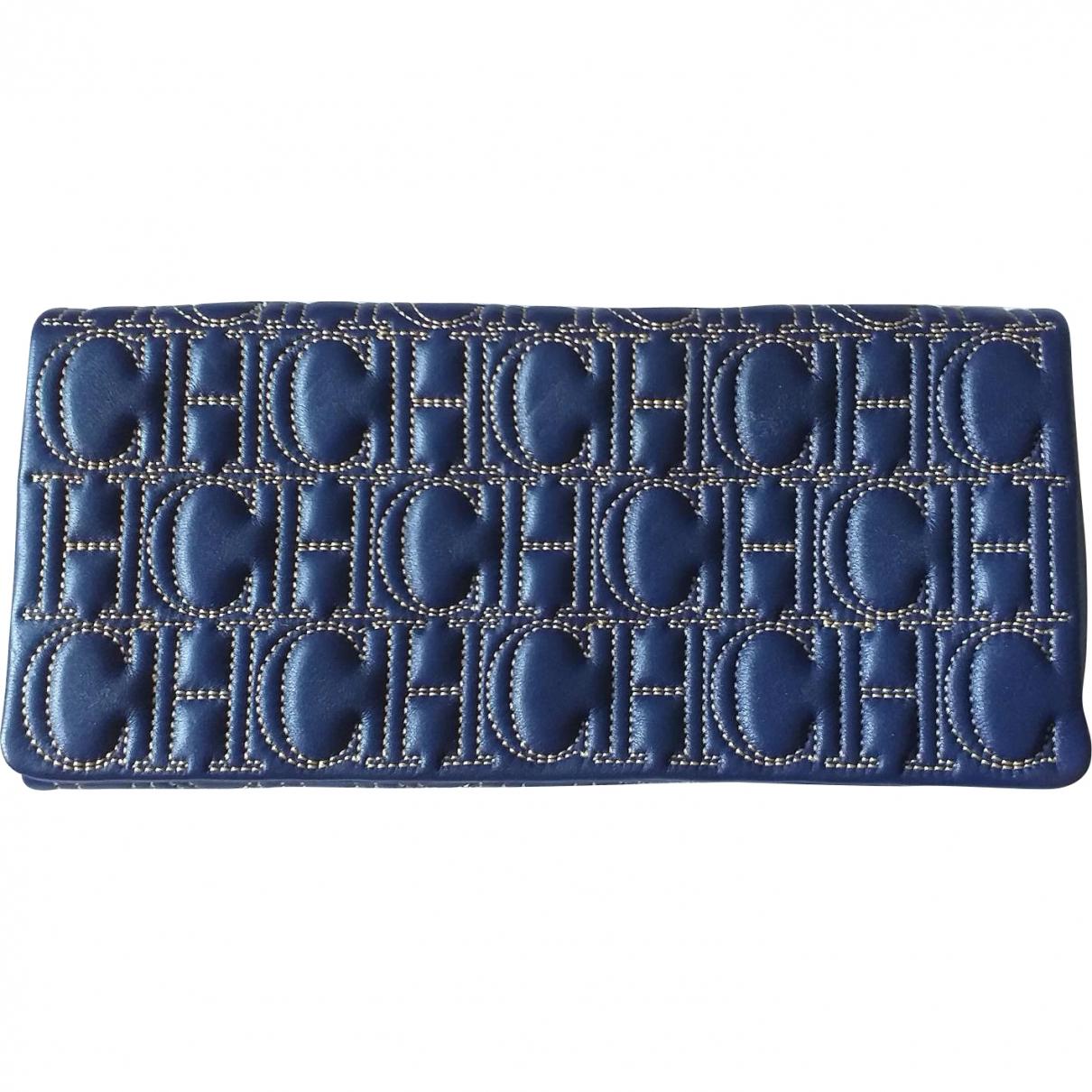 Carolina Herrera \N Blue Leather Clutch bag for Women \N