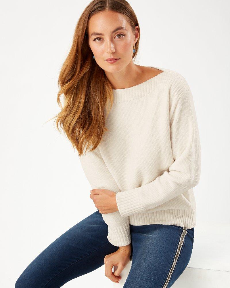 Luna Chenille Boatneck Sweater
