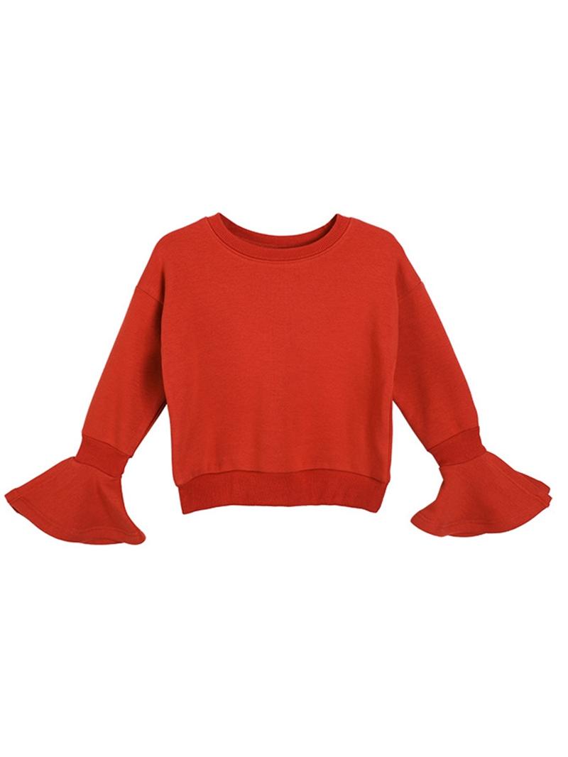 Ericdress Plain Flare Sleeve Thicken Girls' T-Shirt