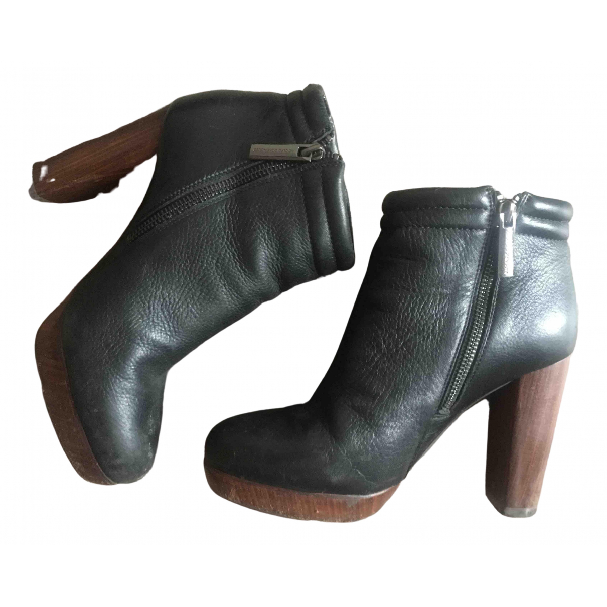 Adolfo Dominguez \N Black Leather Ankle boots for Women 37 EU