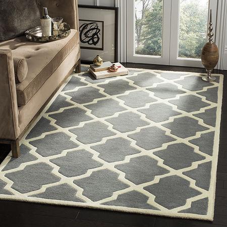 Safavieh Florence Geometric Hand Tufted Wool Rug, One Size , Gray
