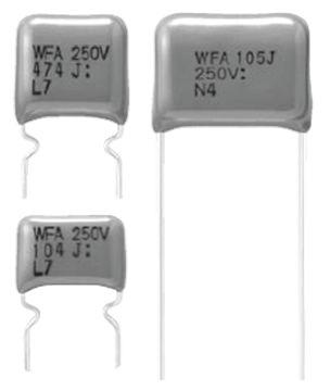 Panasonic 470nF Polypropylene Capacitor PP 450V dc ±10% Tolerance Through Hole ECWF(A) Series (5)