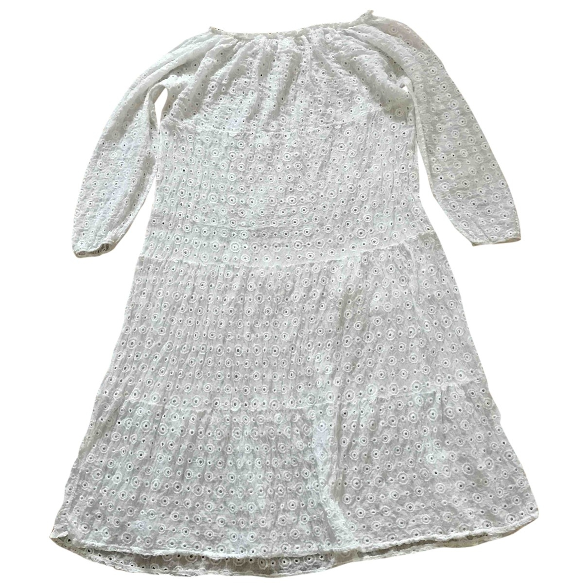 Non Signé / Unsigned \N White Cotton dress for Women One Size FR