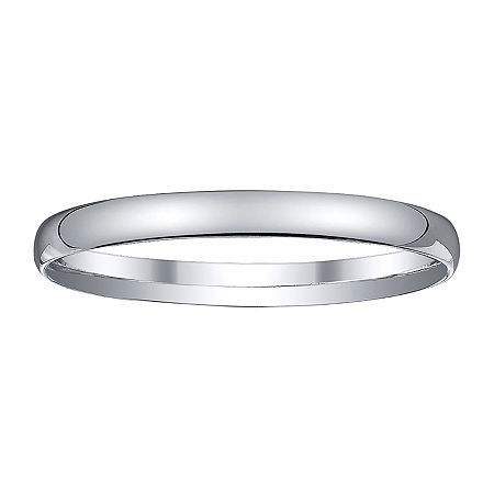 Womens 2mm Silver Domed Wedding Band Ring, 8 , No Color Family